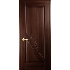 Двери Новый Стиль Амата каштан глухое