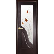 Двери Новый Стиль Амата венге new с рисунком Р1
