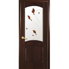 Двери Новый Стиль Антре каштан с рисунком Р4