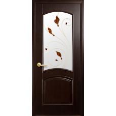 Двери Новый Стиль Антре венге new с рисунком Р4