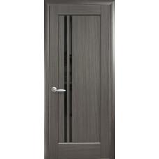 Двери Новый Стиль Делла grey BLK со стеклом