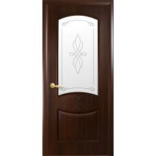Двери Новый Стиль Донна каштан с рисунком Р1