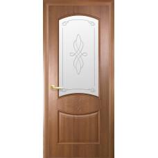 Двери Новый Стиль Донна золотая ольха с рисунком Р1