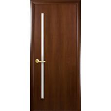 Двери Новый Стиль Глория орех со стеклом