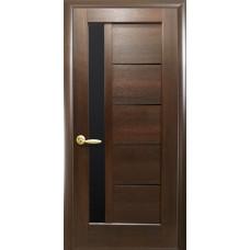 Двери Новый Стиль Грета каштан BLK со стеклом