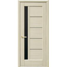 Двери Новый Стиль Грета ясень BLK со стеклом