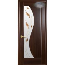 Двери Новый Стиль Эскада каштан с рисунком Р1