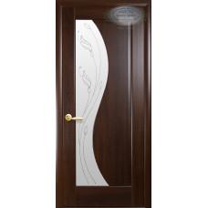 Двери Новый Стиль Эскада каштан с рисунком Р2