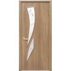 Двери Новый Стиль Камея ПВХ ольха с рисунком Р3