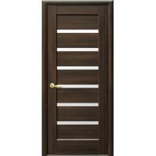 Двери Новый Стиль Линея каштан со стеклом