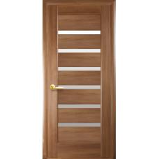 Двери Новый Стиль Линея золотая ольха со стеклом