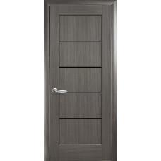 Двери Новый Стиль Мира grey BLK со стеклом