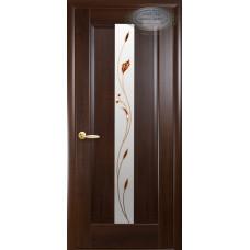 Двери Новый Стиль Премьера каштан с рисунком Р1