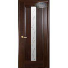 Двери Новый Стиль Премьера каштан с рисунком Р2