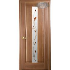 Двери Новый Стиль Премьера золотая ольха с рисунком Р1