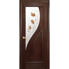 Двери Новый Стиль Прима каштан с рисунком Р1