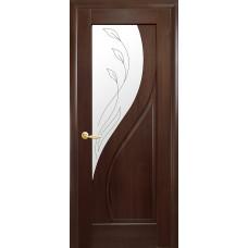 Двери Новый Стиль Прима каштан с рисунком Р2