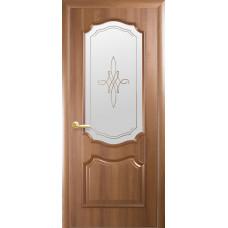 Двери Новый Стиль Рока золотая ольха с рисунком Р1