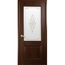 Двери Новый Стиль Вилла каштан с рисунком Р1