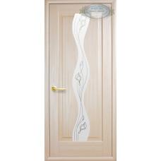Двери Новый Стиль Волна ясень с рисунком Р2