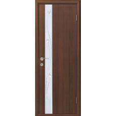Двери Новый Стиль Злата орех с рисунком Р1