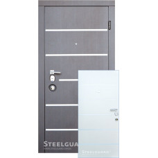 Двери Steelguard AV-5 ВЕНГЕ/Белый шелк