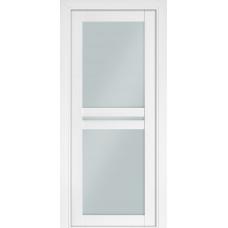 Двери Терминус Модель 104 со стеклом белый матовый